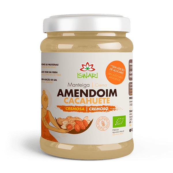 Manteiga de Amendoim Cremosa Bio 1