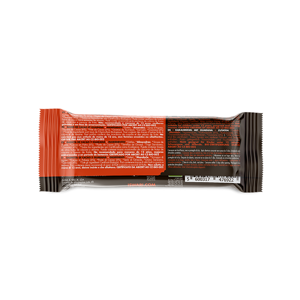 Buddha Energy Bar Cacao Guaranà (15x35g) 3