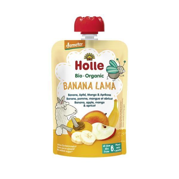 Banana Lama Puré Frutos Bio 6M - Holle (100g) 1