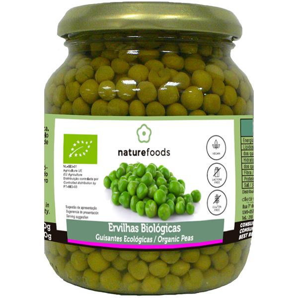 Guisantes cocidos bio - Naturefoods (350g) 1