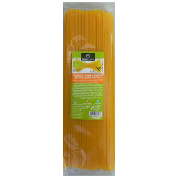 Espaguetis de maíz y arroz Bio sin gluten - Naturefoods (500g) 1