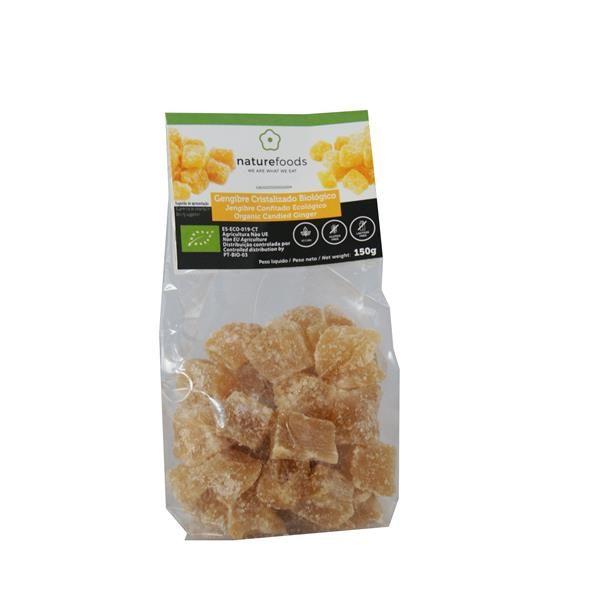 Jengibre cristalizado biológico - Naturefoods (150g) 1
