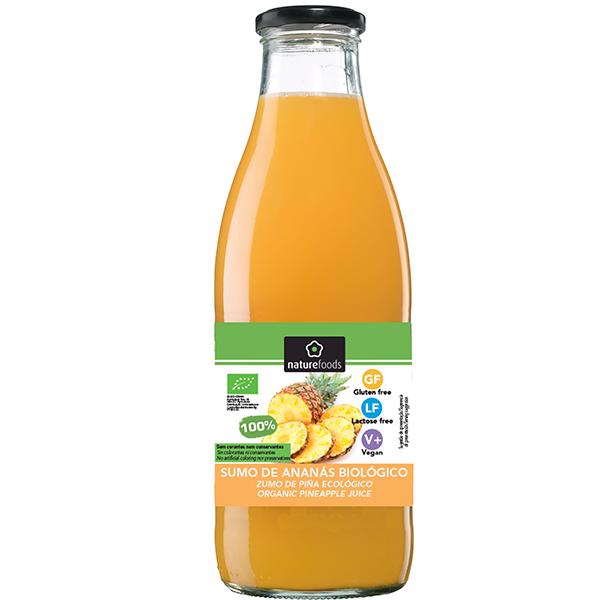 Zumo de piña bio - Naturefoods (750ml) 1