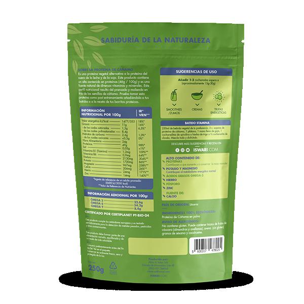 Proteína de Cáñamo en Polvo Bio 2
