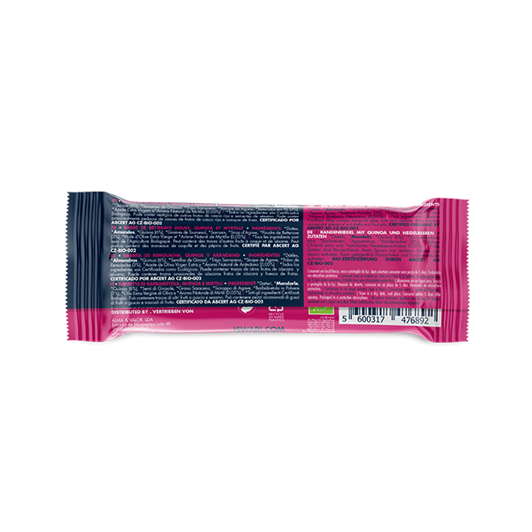 Buddha Energy Bar Beetroot, Quinoa and Blueberry (15x35g) 3