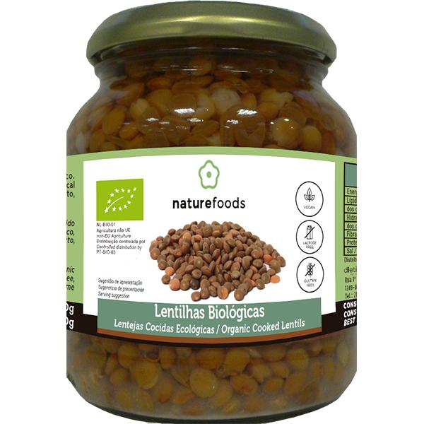 Lentejas cocidas bio - Naturefoods (360g) 1