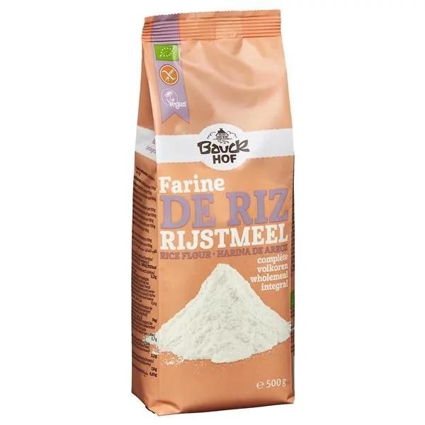 Farina di Riso Biologico Integrale Senza Glutine (500g) - Bauck Hof 1