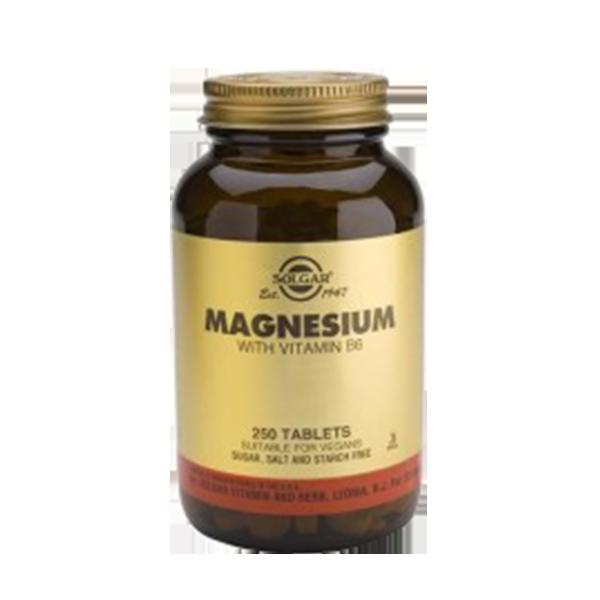 Magnesio Con Vitamina B6 - Solgar (250 Comprimidos) 1