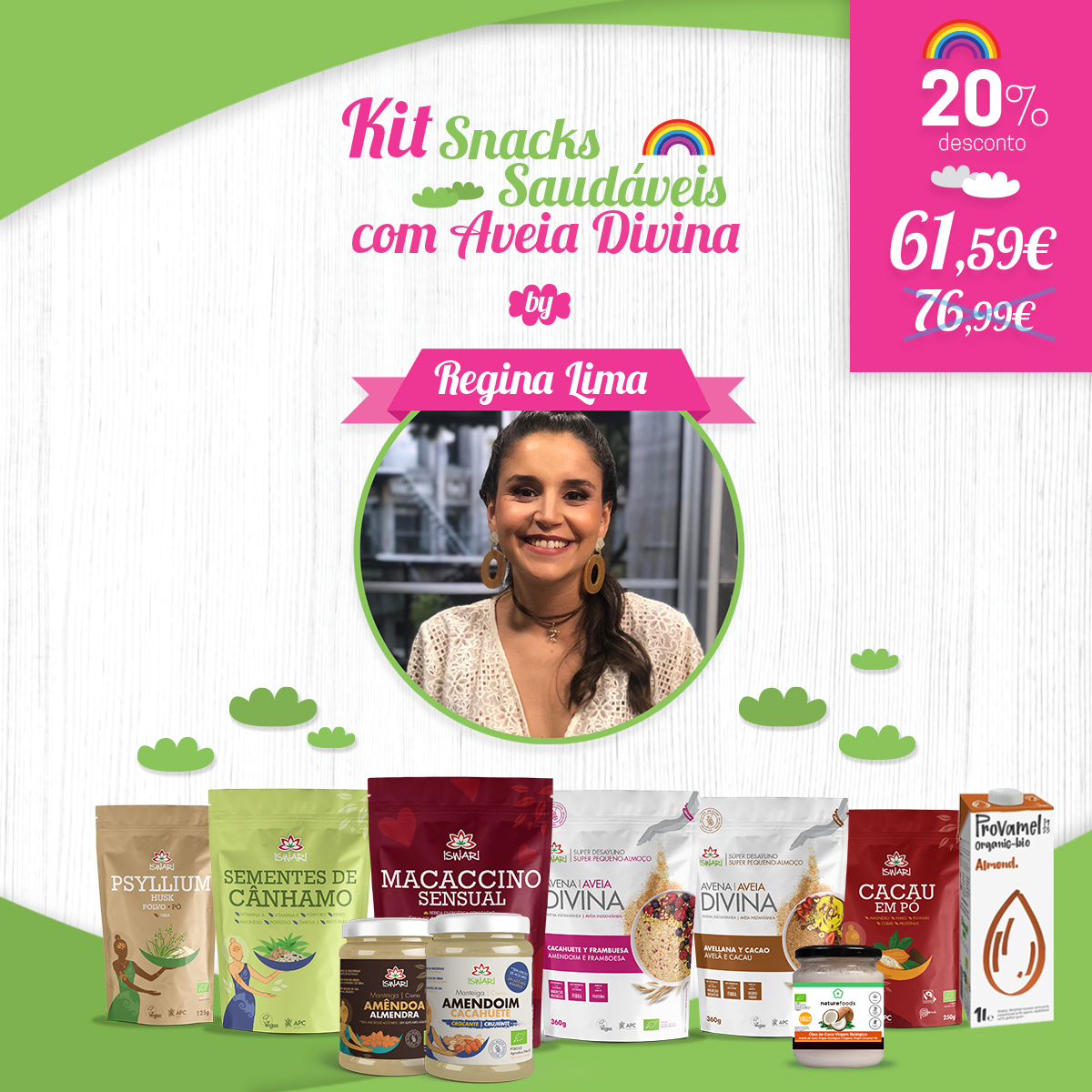 Kit Snacks Saudáveis Aveia Divina by Regina Lima 1