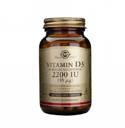 Vitamina D3 2200 Ui (55mcg) - Solgar (100 compresse)