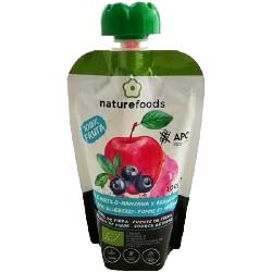 Polpa De Maçã E Mirtilo Biológica - Naturefoods (100g)