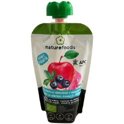 Compote de pommes et de myrtilles bio - Naturefoods (100g)