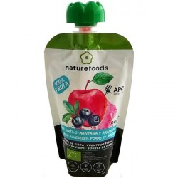 Organic Apple and Blueberry Pulp - Naturefoods (100g)