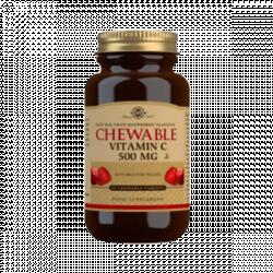 Vitamina C Con Sabor A Arándano Rojo Y Frambuesa - Solgar (90 Comprimidos) 1