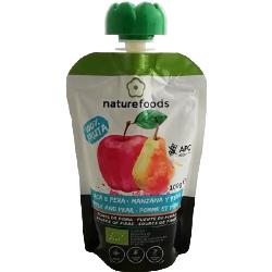 Pulpa de manzana y pera biológica - Naturefoods (100g)