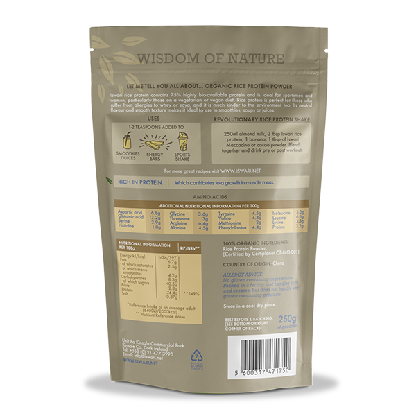 Rice Protein Powder Bio 2
