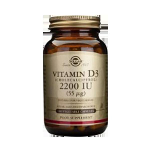 Vitamina D3 2200 UI (55 MCG) - Solgar (100 caps) 1